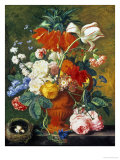 Vase of Rich Summer Flowers Giclee Print by Jan van Huysum