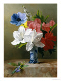 Flowers in a Blue Vase Giclee Print by Arantina Arendsen