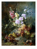 Still Life with Flowers and Fruit Lámina giclée por Alexandre Couder