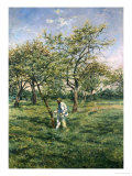In the Orchard Giclee Print by Lucien Frank