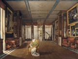 Interieur of Malmasion Music Room, c.1812 Giclee Print by Auguste Garneray