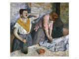 The Laundresses, c.1884 Print by Edgar Degas