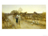 Rustic Courtship Giclee Print by Thomas J. Lloyd