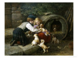 Amongst the Pets Giclee Print by John William Bottomley