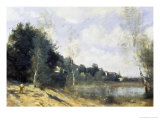 Summer Giclee Print by Jean-Baptiste-Camille Corot