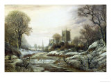 Worcester from the South West Giclee Print by Charles Leaver