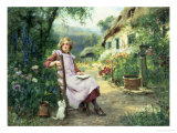 In the Garden Giclee Print by Henry John Yeend King