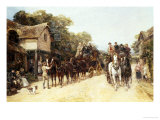 The Three Horseshoes Giclee Print by Heywood Hardy