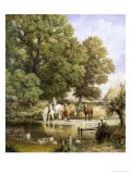 Watering the Horses Giclee Print by Myles Birket Foster
