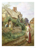 The Peaceful Village Giclee Print by Henry John Yeend King