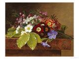 Bouquet of Apple and Cherry Blossoms, and Primula Giclée-Druck von Johan Laurentz Jensen