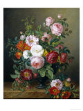 Still Life of Roses Giclee Print by Melanie De Comolera