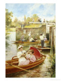 Afternoon on the River Giclee Print by Alfred Augustus Glendenning