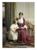 The Reading Lesson Giclee Print by Richard Crafton Green