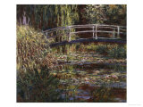 Water Lily Pond (Harmonie Rose), c.1900 Giclee Print by Claude Monet