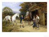Casting a Shoe at the Blacksmith's Giclee Print by Heywood Hardy