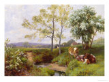 On the Minnow Stream, Dorking, Surrey Gicl&#233;e-Druck von Charles Collins