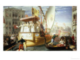 The Brides of Venice Being Taken to the Wedding, c.1528 Giclee Print by John Rogers Herbert