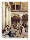 Feeding the Pigeons, Piazza San Marco, Venice Giclee Print by Myles Birket Foster