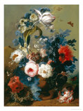 Still Life of Roses and Poppies Giclee Print by Johann Drechsler