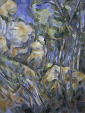 Rocks near the Caves above Chateau Noir, c.1904 Giclee Print by Paul Cézanne