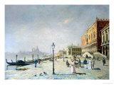 Promenade in Venice Giclee Print by Etienne Leroy
