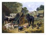 Busy Farmyard Giclee Print by John Frederick Herring II
