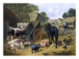 Busy Farmyard Stampa giclée di John Frederick Herring II