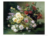 Romantic Flowers Giclee Print by Eugene Henri Cauchois