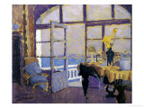 Interior with Piano Giclee Print by Fernand Lantoine
