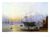 The Harbor at North Shields Giclée-Druck von Joseph Crawhall