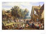 Village Feast Giclee Print by Constantin Coene
