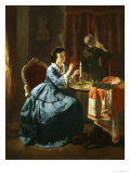 The Love Letter Giclee Print by Carl L.f. Becker