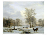 Winter Landscape Giclee Print by Jacobus Abels