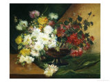 Still Life of Asters Giclee Print by Eugene Henri Cauchois