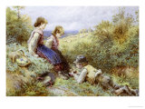 The Bird's Nest Giclee Print by Myles Birket Foster