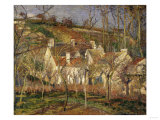The Red Roofs, c.1877 Reproduction procédé giclée par Camille Pissarro