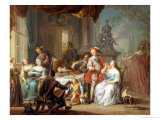 Dining on the Terrace Giclee Print by Frans Christoph Janneck