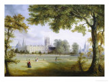 Christ Church from Merton Fields, Oxford Giclee Print by Richard Bankes Harraden