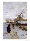 Snowy Walk Giclee Print by Henry John Yeend King