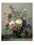 Still Life of Summer Flowers Giclee Print by Hans Hermann