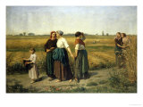 The Reapers, c.1860 Giclee Print by Jules Breton