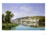 View on the Rhine Giclee Print by Charles Kuwasseg