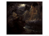 Ossian Evokes the Ghosts on the Banks of the Lora, c.1801 Giclee Print by Francois Gerard