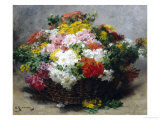 Colorful Asters Giclee Print by Georges Jeannin
