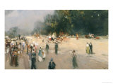 The Park in Summer Giclee Print by Lucien Frank