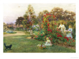 In the Artist's Garden, Yapton, Sussex Giclee Print by Thomas J. Lloyd