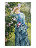 In the Rose Garden Giclee Print by Edward Killingworth Johnson
