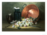 Still Life of Plums and Jam-Making Utensils Giclee Print by Paul Gagneux