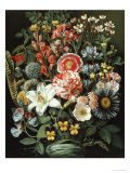 Still Life of Exotic Flowers Giclee Print by Elise Bruyere